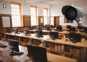 CCTV cameras in school classrooms