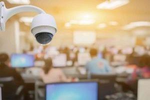 CCTV System surveillance in office