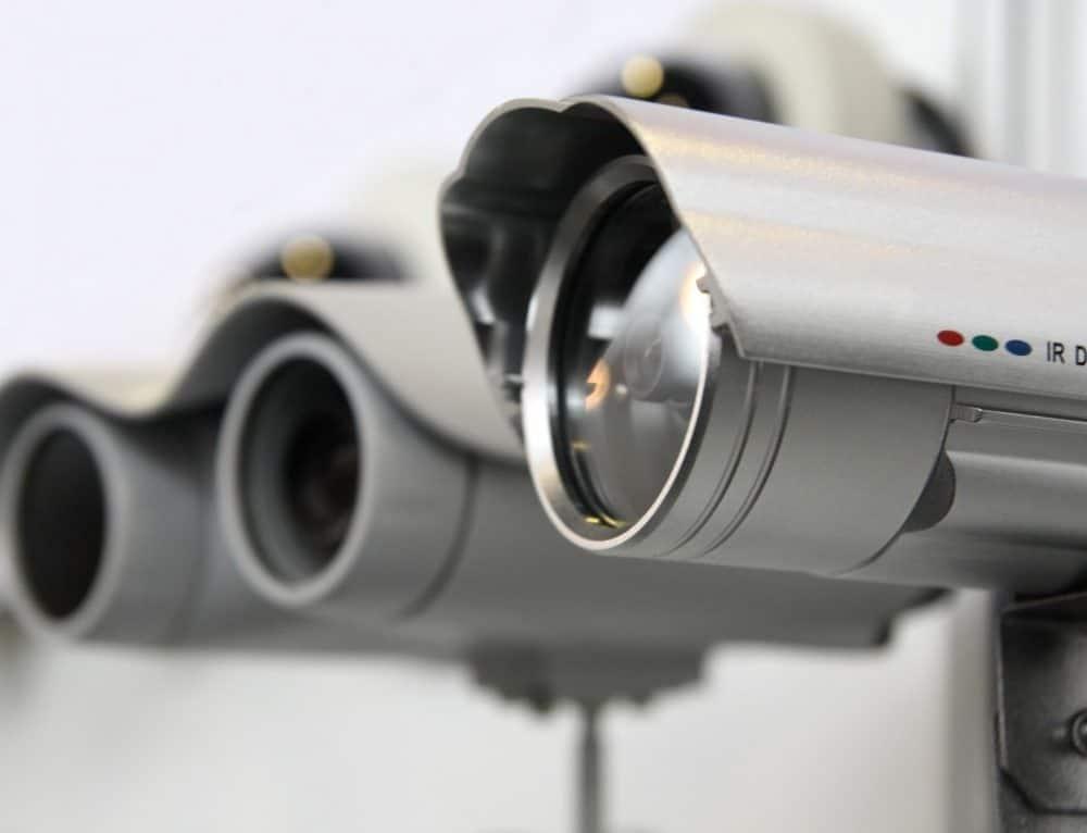 Installed CCTV cameras