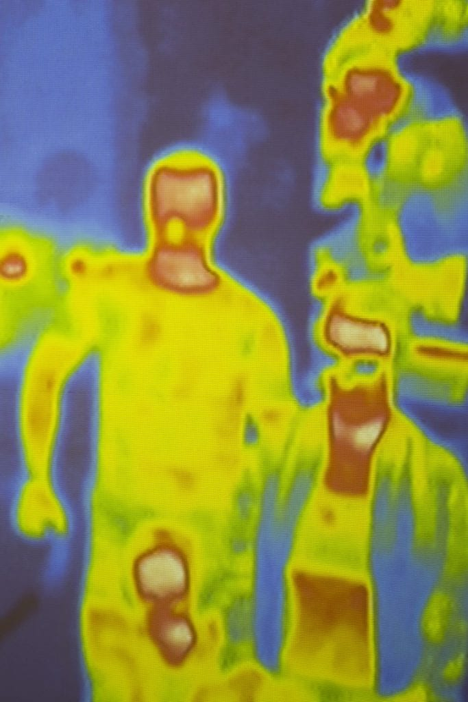 thermal imaging camera cctv footage