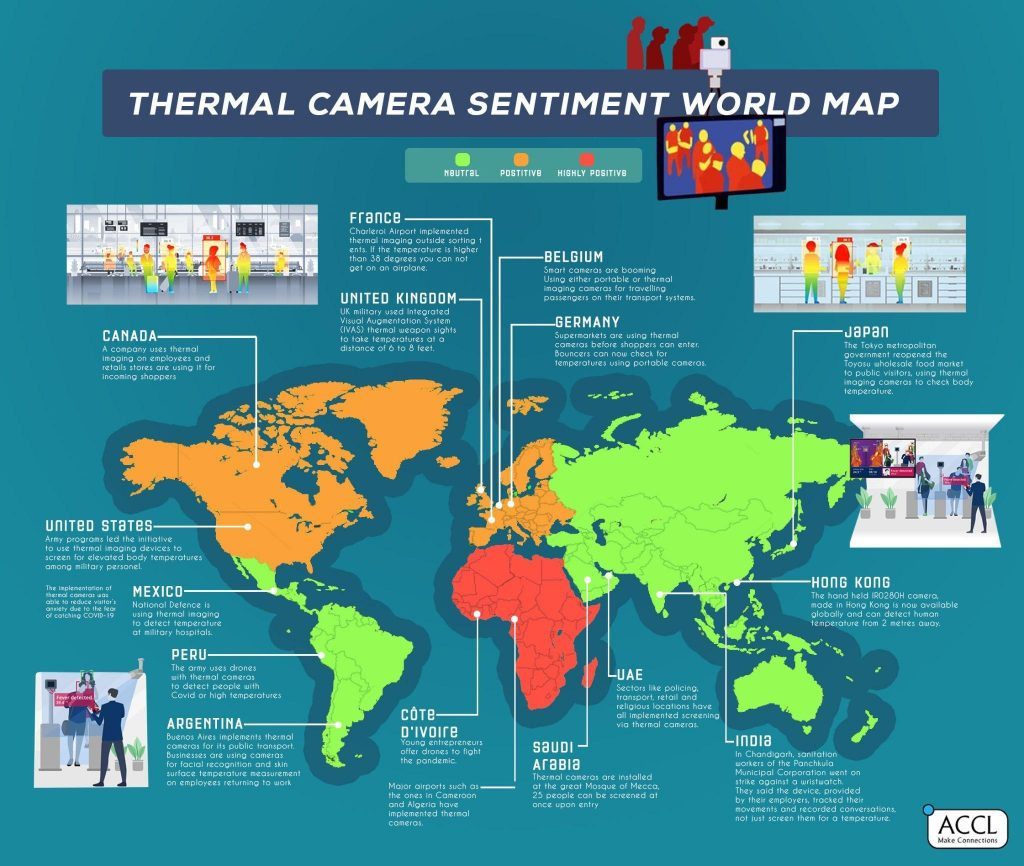 Thermal Camera Sentiment World Map