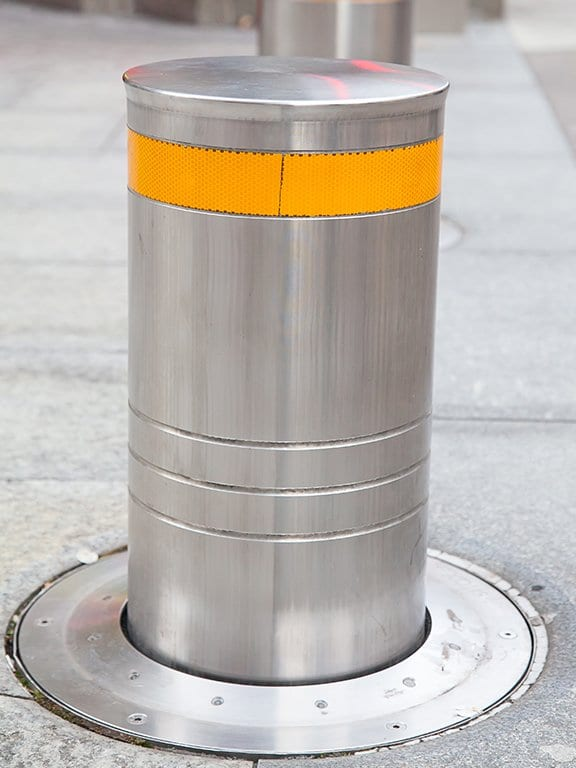 Bollard security barrier installed