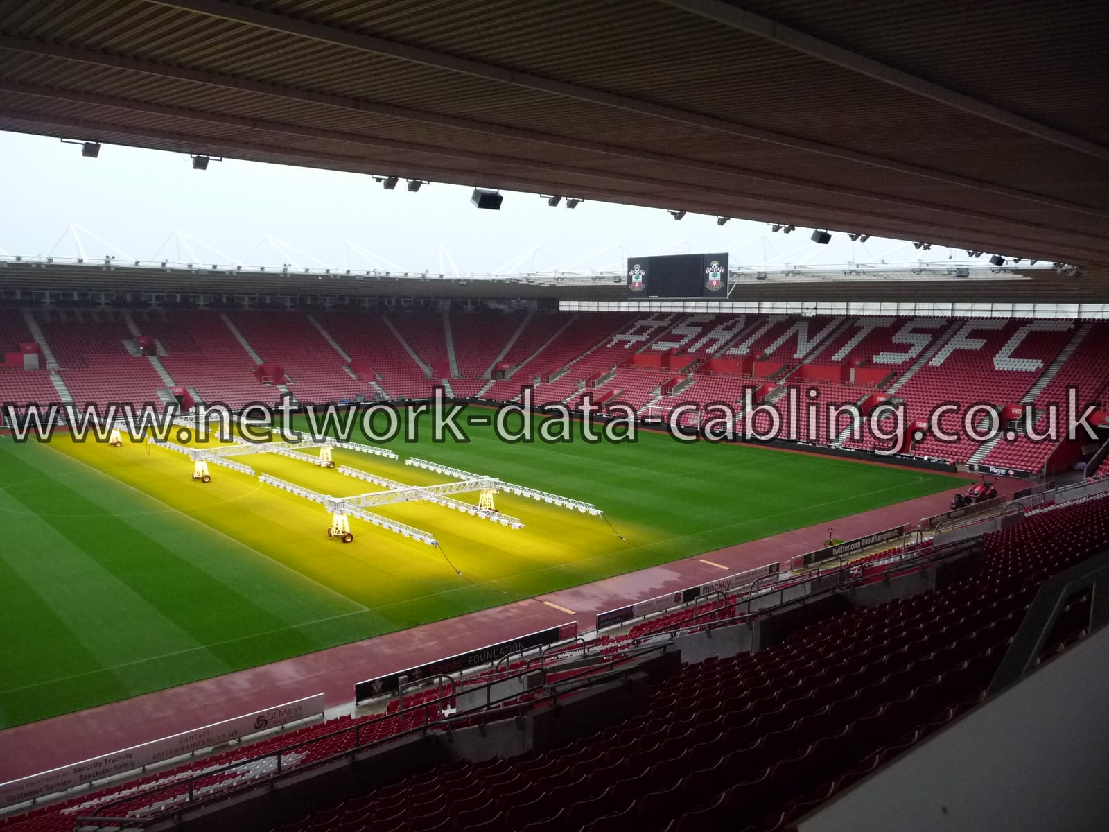 Cabling for sports industry