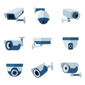 Different IP camera types and positions
